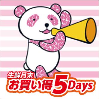 【生鮮月末お買い得5Days】鮮魚・青果・精肉が 期間中 毎日おトク!